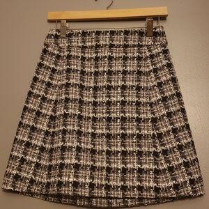 Kate spade plaid tweed skirt size 2 NWT